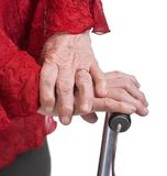 Old womaт's hands Stock Photo