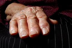 Old woman´s hand Royalty Free Stock Images