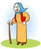 Old woman. An old woman stands with her rod Stock Images