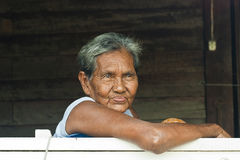 Old woman. Portrait of Thai old woman Stock Image