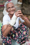 Old woman. Old Sri Lankan Woman on a marketplace Royalty Free Stock Image