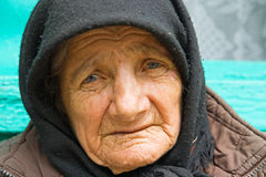 Old woman. Portrait of an old woman Stock Photography