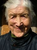 Old woman. Smiling Stock Photography