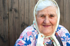 The old woman age 84 years. Detail closeup portrait Stock Images