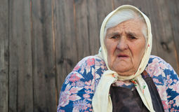 The old woman age 84 years Stock Image