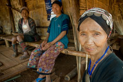 An old woman from the Akha ethnic group Royalty Free Stock Photos