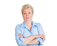 Old woman with attitude Royalty Free Stock Image