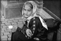 Old Woman begging Royalty Free Stock Photos