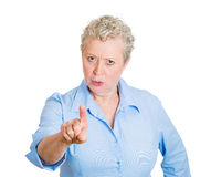 Old woman blaming Stock Photography
