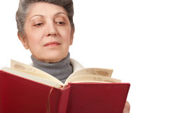 The old woman with book Stock Photography