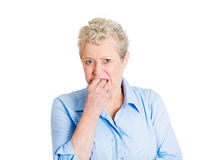 Old woman craving for something Stock Images