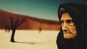 Old Woman, Desert, Old Age, Bedouin Royalty Free Stock Image
