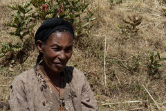 Old woman in ethiopia Royalty Free Stock Photography