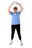Old woman exercising Stock Photos