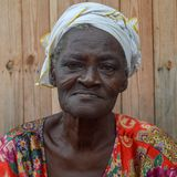 Old woman in Ghana royalty free stock image