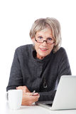 Old woman with glasses Royalty Free Stock Photography