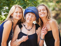 Old woman with granddaughter Royalty Free Stock Photo