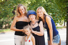 Old woman with granddaughter Royalty Free Stock Photos