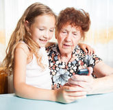 Old woman with great-grandchild Royalty Free Stock Image