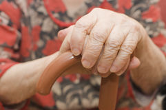 Old woman hand Royalty Free Stock Image