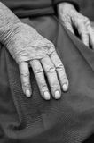 Old woman hands Stock Photography