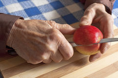 Old woman hands Royalty Free Stock Photo