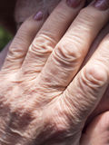 Old woman hands Royalty Free Stock Photos