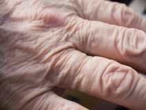 Old woman hands Stock Image