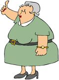 Old Woman Hitchhiker Royalty Free Stock Images