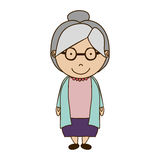 Old woman icon Royalty Free Stock Photo