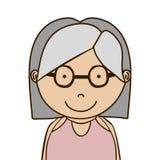 Old woman icon Stock Photos