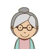 Old woman icon Stock Photo