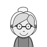 Old woman icon Stock Photography