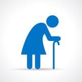 Old woman illustration Stock Photos