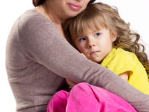 Old woman and little girl Stock Images