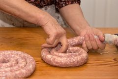Making sausage at home Stock Photo