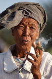 Old woman in Mandalay Royalty Free Stock Photo