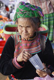 Old woman at the market Royalty Free Stock Images