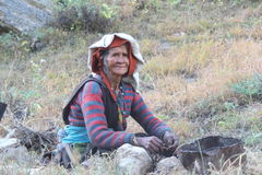 Old Woman of the Mountains. Stock Image