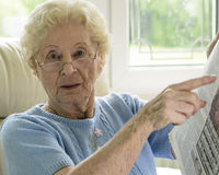 Old Woman Needing Help Stock Images