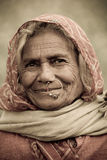 Old Woman with nosering Stock Photography