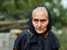 Old woman outdoor Royalty Free Stock Photography