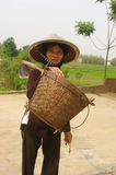 Old woman peasant Kinh (Viet) portrait royalty free stock photo
