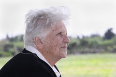 Old woman portrait royalty free stock photo