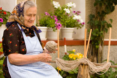 Old woman portrait Stock Photography