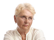 Old woman portrait Royalty Free Stock Images