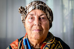 Old woman portrait Stock Image