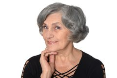 Old woman portrait Stock Photos