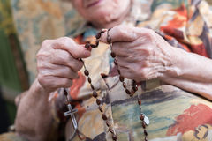 Old woman praying Royalty Free Stock Photography