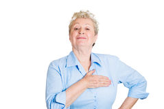 Old woman proud of herself Royalty Free Stock Photo